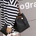 Bolsos de Las Mujeres Famosas Marcas bolsas femininas bolso de Las Borlas de Cuero de LA PU Hombro Bolsa de Cubo Con Embrague