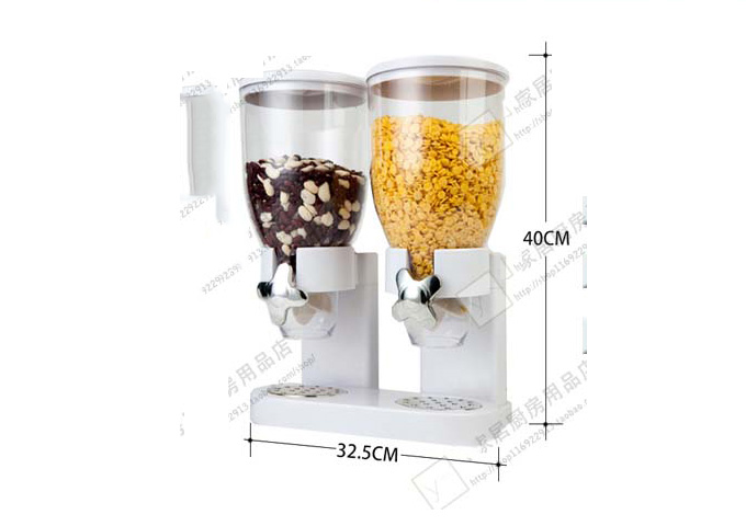Cereal device Wall Mounting Type 2 heads/set  Food Grain Storage Tank Grain Distributor Food storage Utensils