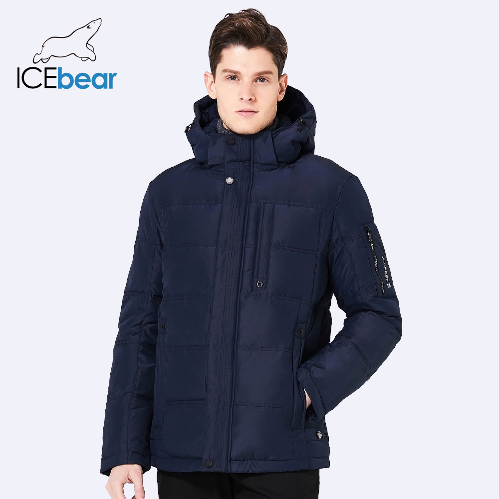 ICEbear 2017 Breathable Winter Jacket Men Thickening Casual Men Winter Short Coat For Male Stand Collar Parka 17MD818 hot sale clothing 2016 newest men parka winter jacket fashion quality padded stand collar single breasted short coat for male