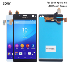 For Sony Xperia C4 Display with Touch Screen Digitizer For Sony Xperia C4 LCD E5303 E5306 E5333 Display Screen LCD lcd display for sony for xperia c4 e5303 e5333 e5353 lcd with digitizer touch screen assembly black and white free shipping