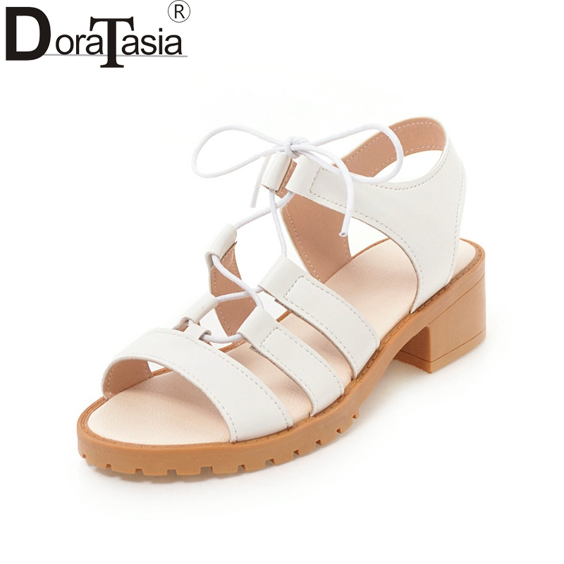 DoraTasia 2018 Summer New High Quality Large Size 33-43 Summer - Zapatos de mujer