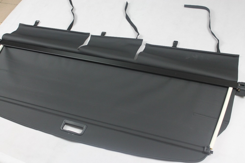 For Hyundai New Santa Fe 2008 2009 2010 2011 2012 5 Seat Rear Trunk Security Shield Cargo Cover Black high quality for kia sorento 2009 2010 2011 2012 rear trunk security shield cargo cover black