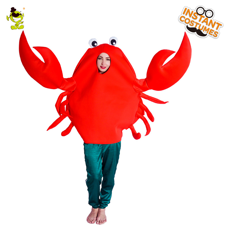 Xmas Christmas Funny Cute Red Crab Hat Party Costume For Free Size Gift Present