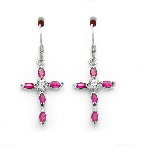 Boucles d'oreilles Qi Xuan_Free D'expédition Pierre Rouge Papillon Goujon Earrings_S925 Solide Argent Mode Earrings_Manufacturer Directement Vente