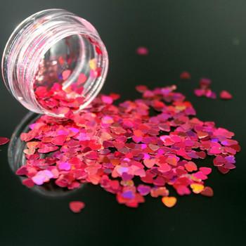 1Box Rose Red holograficzne cekiny brokat Shimmer diament 12 kolory oczu błyszczące skóry wyróżnienia twarzy ciało brokat festiwal Makeu tanie i dobre opinie Federacja rosyjska