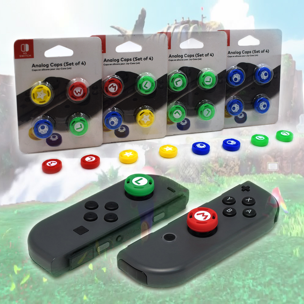 KYVG 4pcs/Set Nintend Switch 3D Analog Joystick Caps for Nintendo Switch NS Thumbstick Grip Gamepad Silicone Cap for NS Joy-con