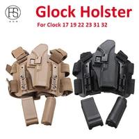 Glock 19 17 23 32 36 Holster Drop Leg Gun Holster Blackhawk Close Quarters Concealment Military