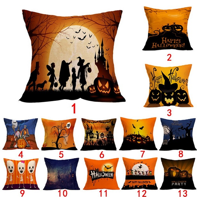 Aliexpress Buy Halloween Cushion Cover Home Decor Halloween Fascinating Halloween Pillows Decorations