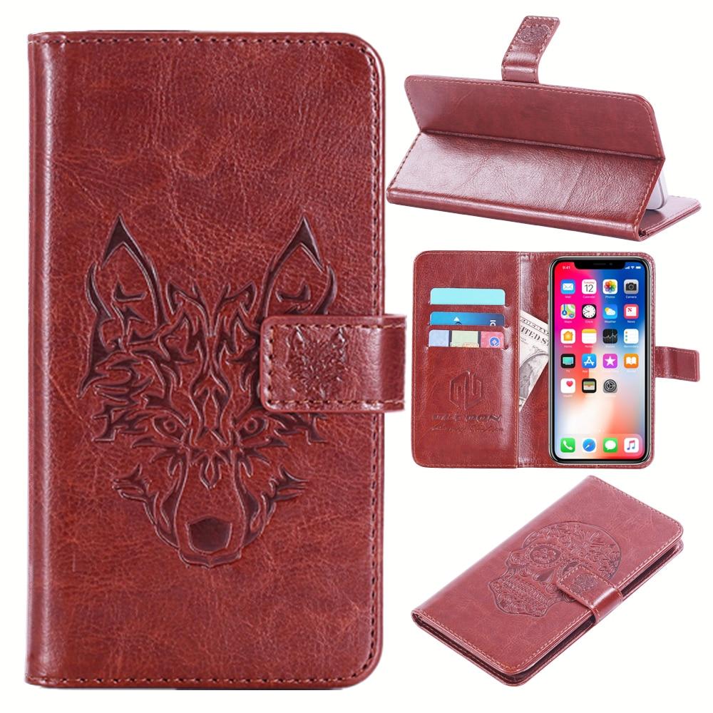 Gucoon тиснением Череп волк чехол для LG D331 D335 L Bello 5.0 дюйма Винтаж защитный телефон В виде ракушки модные Cool Cover сумка