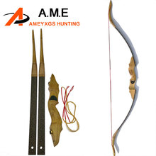 40lbs Shooting Traditional Chinese Wood Recurve Bow Longbow Take Down Outdoor Hunting Target Games Estilingue