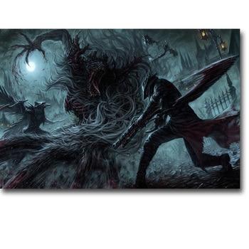 Шелковый Плакат Гобелен Игра Bloodborne Вариант 8