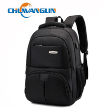 Chuwanglin New business male backpack mens laptop backpacks Large capacity travel bags waterproof Charging backpack A6002