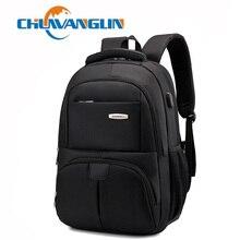 Chuwanglin חדש עסקי זכר תרמיל גברים תרמילי מחשב נייד גדול קיבולת נסיעות שקיות טעינה עמיד למים תרמיל A6002