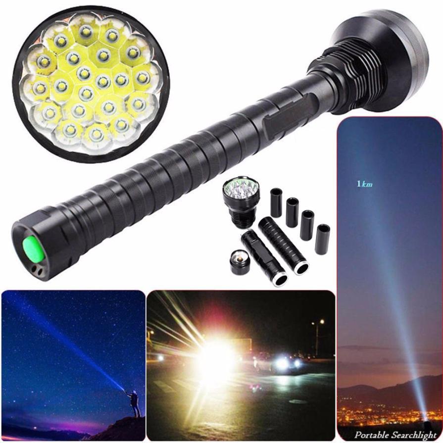 2017 28000LM CREE XM-L LED 21x T6 Super Flashlight Torch Lamp Light 5Mode 26650 18650 717