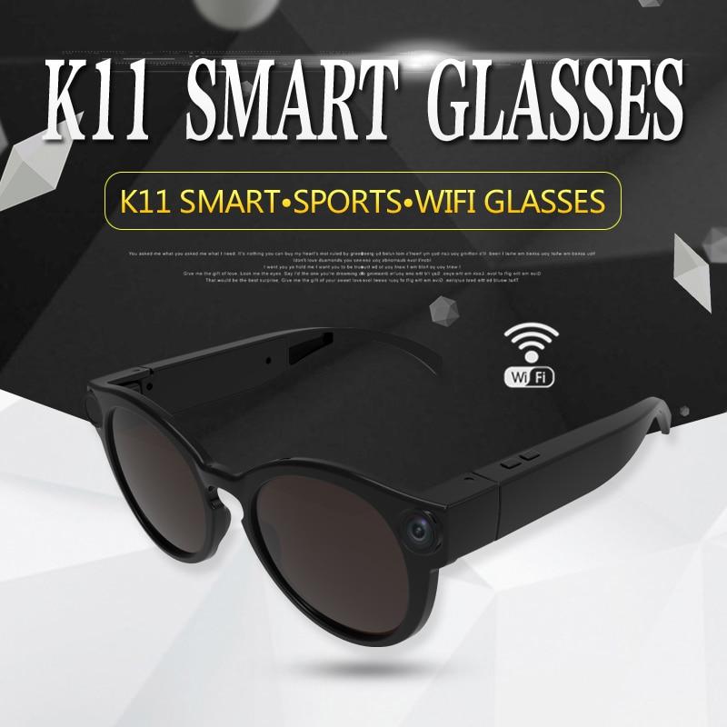 K11 Camera Sunglasses 1080p Wifi Mini Micro Cameras Polarized-lenses HD Sports Video Recorder Camcorder TF Card Eyewear Video все цены
