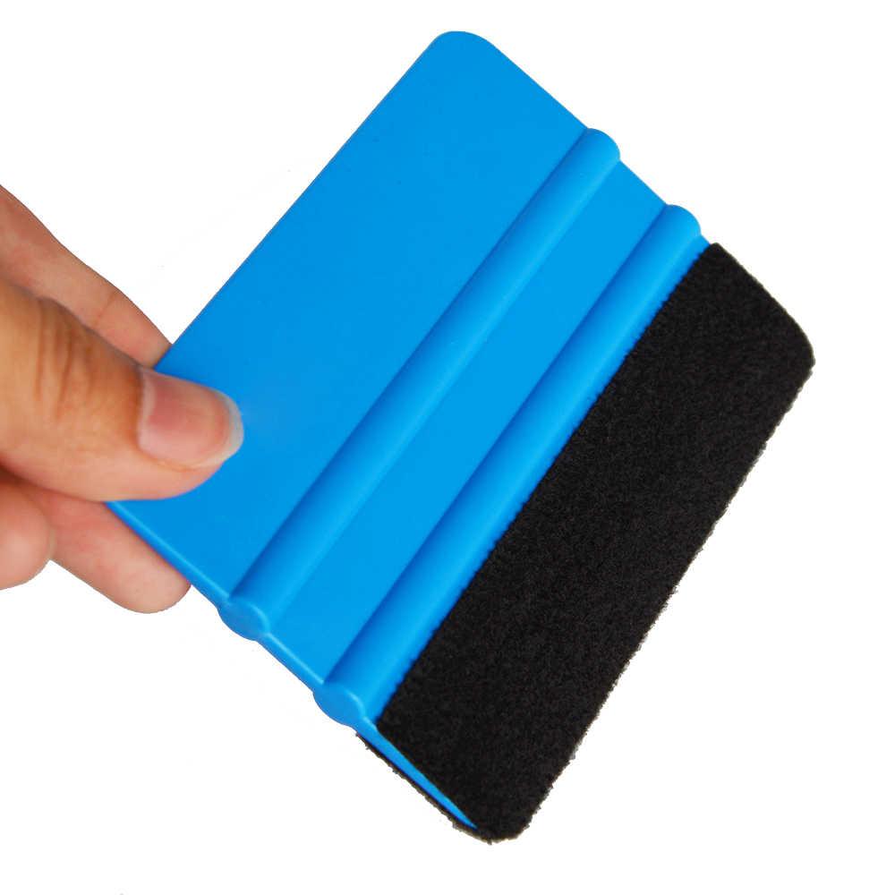 EHDIS синяя виниловая пленка из углеродного волокна, войлок, скребок для снега, автомобильные наклейки-покрытие, инструмент, автомобильные аксессуары, фольга, Тонировка окон, инструмент