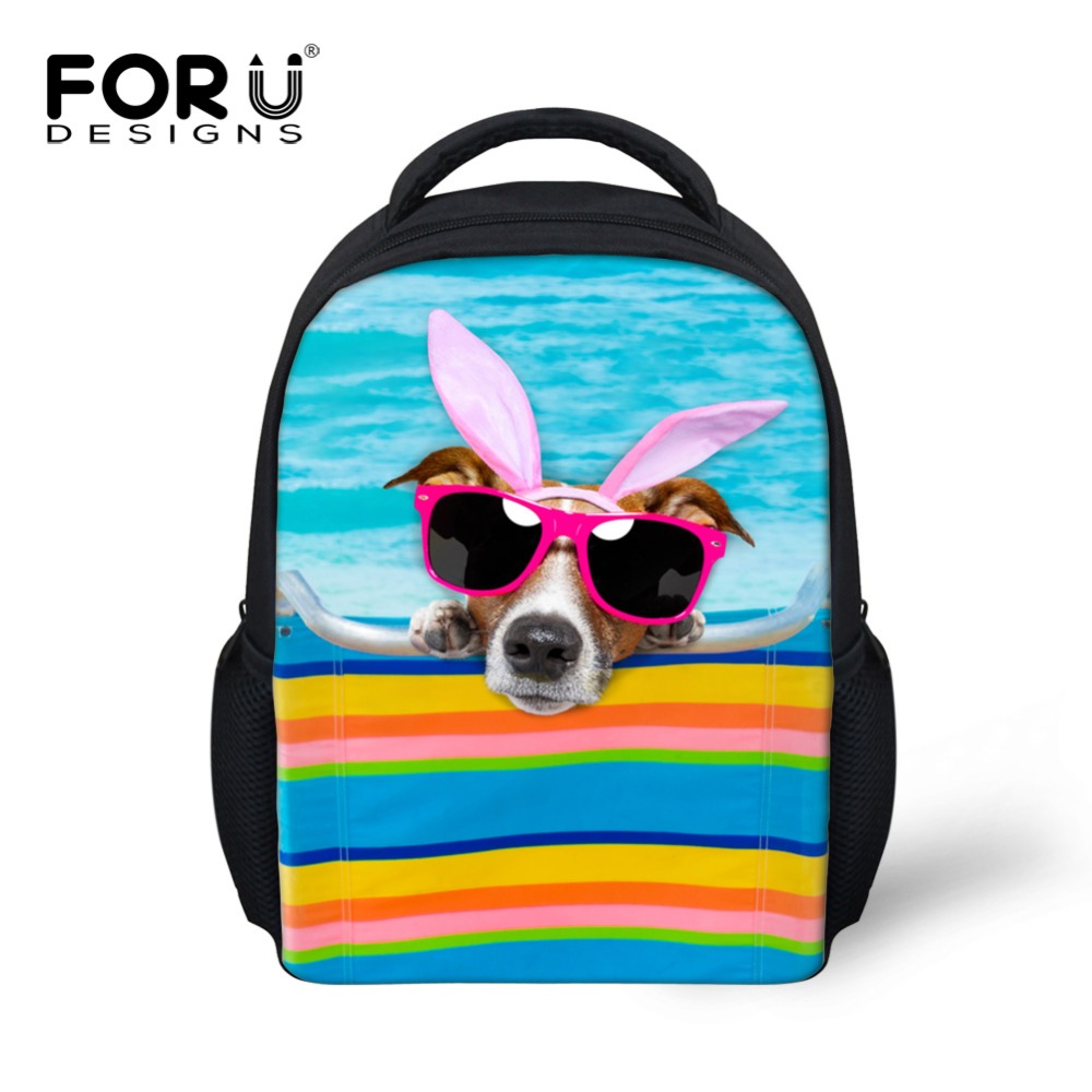 Cute Dog Printed Children School Bags for Girls Gift Animal Canvas Kindergarten Kids Sch ...