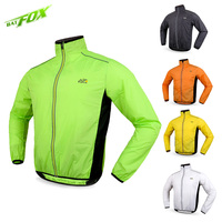 BATFOX Cycling Jacket Trench Coat Mens Bicycle Jacket Unisex Sports Cycling Jersey Long Sleeve Breathable Windproof