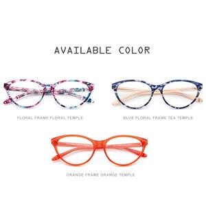 Image 5 - アセテート光学眼鏡フレームの女性のブランドデザイナーキャットアイ処方メガネ新キャットアイ眼鏡眼鏡9111