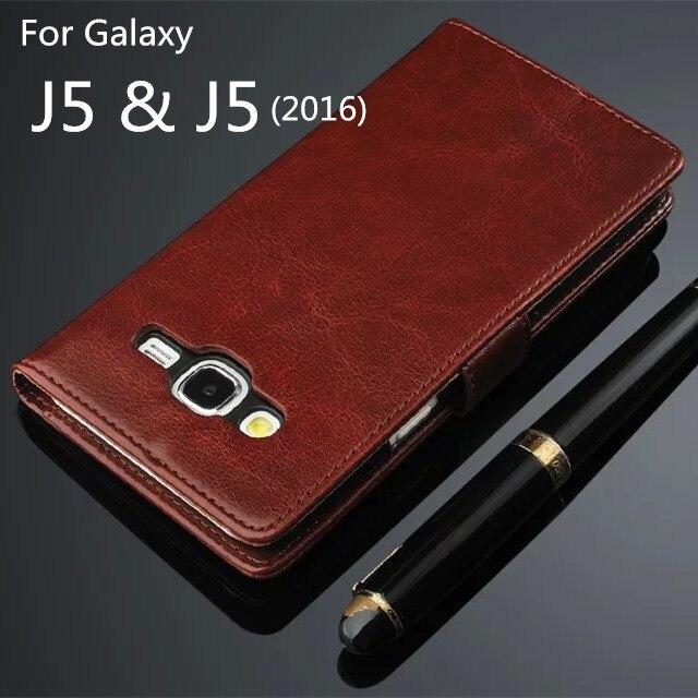 Para samsung j5 j5000 fundas cubierta del tirón magnético de alta calidad pu de