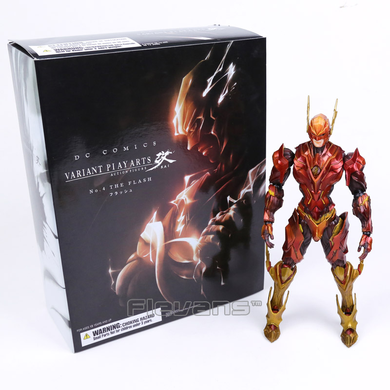 Variant Play Arts Kai DC Comics No.4 The Flash PVC Action Figure Collectible Model Toy 26cm  the flash funko pop the flash pvc action figure collectible model toy christmas gift