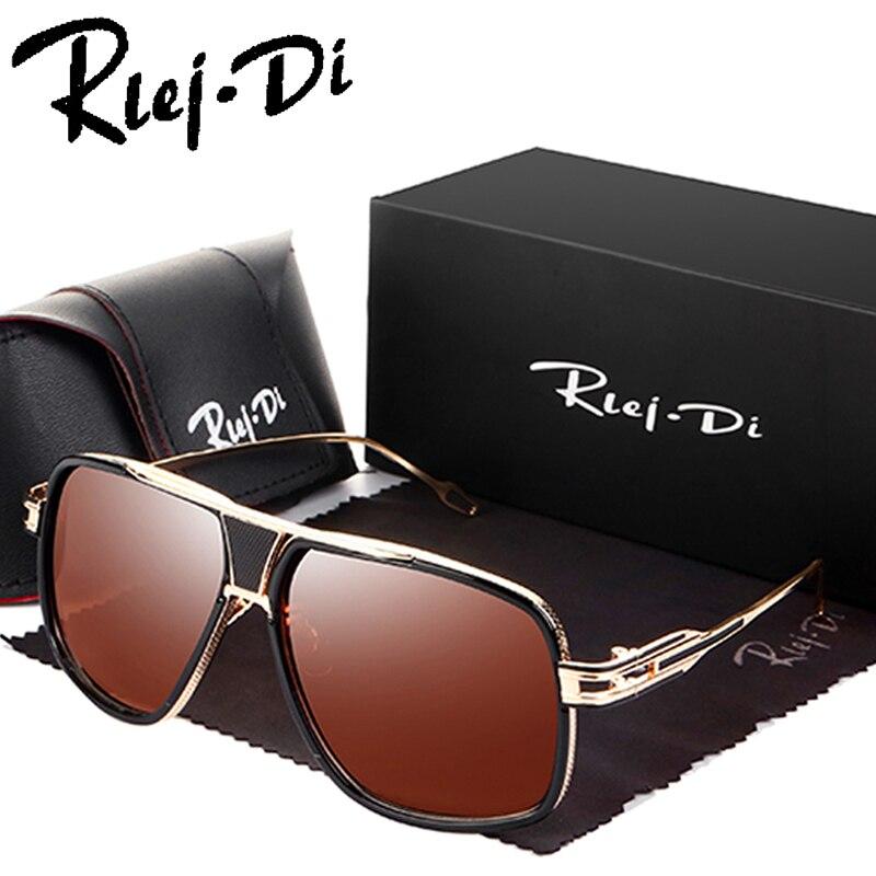Cuadrado Gafas de sol hombres marca de diseño 18 K oro Gafas señora Gafas de sol mujeres Brad Pitt Sol Gafas hombre mujer UV400