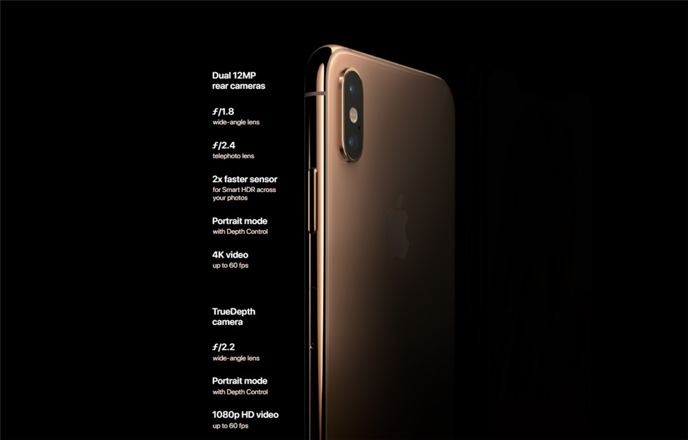 New Apple iPhone XS Max 6 5 inch OLED Display 4G LTE Original Smart Phone  4gb RAM 64gb/256gb/512gb ROM A12 IOS12 Smartphone