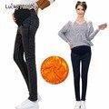 Plus Size 3XL Quente Grossas Calças Jeans Inverno do Velo calças de Brim de Maternidade para As Mulheres Grávidas Gravidez maternidade Além de Veludo Maternidade Roupas
