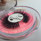 6 Pairs Top Quality Mink Lash Handmade Mink Lash fans Glitter Packaging Customized box Fake 3D Mink Lash Free Shipping