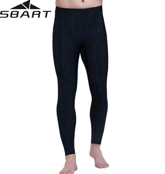 SBART Mens UPF50+ Swimming Rash Guard Tights Pants Sharkskin Windsurf Snorkeling Diving Surfing Leggings Clothing