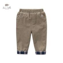 DB4287 дэйв белла осень мальчиков брюки цвета хаки мальчиков манжеты прямые брюки