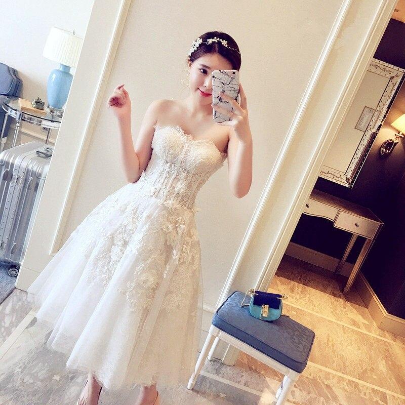 ee582606413a Pizzo e Tulle Tull Abiti De Casamento Da Sereia Mezzo Polpaccio Ball Gown  Party Dress Vintage