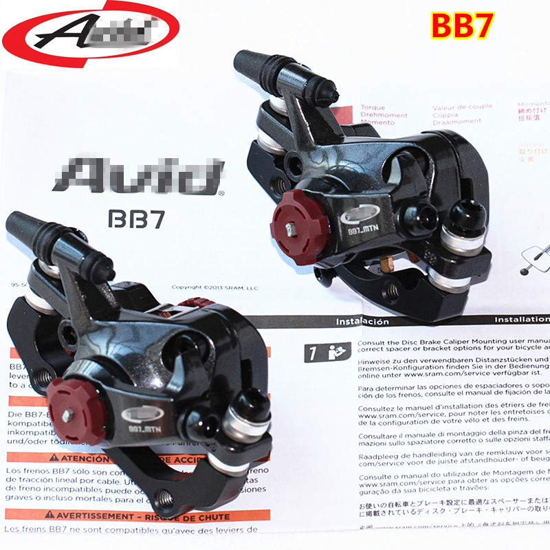 BB7 MTB Mountain Bike Mechanical Disc Brakes Calipers Bicycle Parts 1 Pair/2pcs tomount 2pcs bicycle fender bike parts
