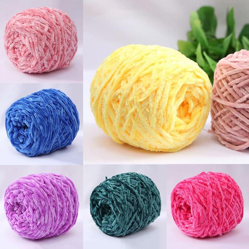 100g//Roll Chunky Crochet Chenille Milk Baby Velvet Knitting Wool Soft Yarn Craft