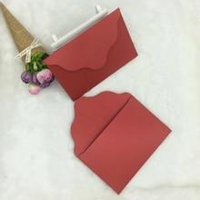 50pcs/lot Handmade Mini Envelopes Vintage Colored Pearl Blank Paper Envelope Wedding Invitation Christmas Gift