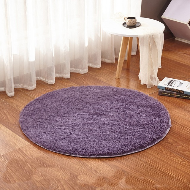 Fluffy Bedroom Round Rug Carpets Yoga Living Room Kilim Faux Fur Carpet  Kids Room Rugs Soft And Fluffy Warm And Comfortable Wash