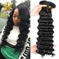 peerless virgin hair 8A Brazilian Loose Deep Wave 3Pcs Lot Tissage Bresilienne Perruque Deep Wave 100G/Pc Wo Wigs Hair Brazilian