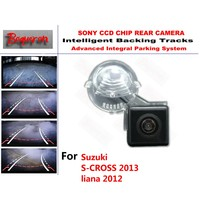 for Suzuki S CROSS 2013 liana 2012 CCD Car Backup Parking Camera Intelligent Tracks Dynamic Guidance Rear ViewCamera