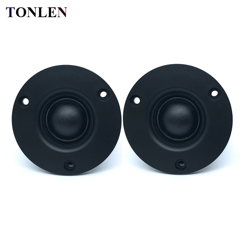 TONLEN 2PCS Difuzor de film Tweeter de film de mătase 74mm 20W 4 ohm - Audio și video portabile