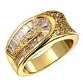 18 K oro verdadero y platino plateado ajuste del diente 23 unids AAA Cubic Zirconia anillos para mujer anillos de boda moda joyería fina HY