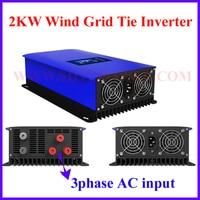 MPPT 2000W 2KW Wind Power Grid Tie Inverter with Dump Load Controller/Resistor for 3 Phase 48v 60v 72v wind turbine generator