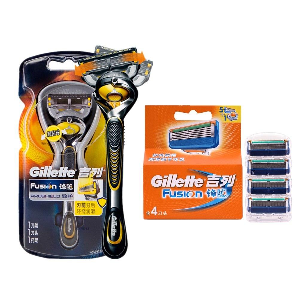 Original Authorization Gillette Fusion Proshield Manual Shaver Razor Blade For Men FlexBall Brand Razor Spare Parts Razor