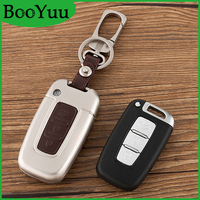 BooYuu Zinc alloy+Cowhide 3button Smart Remote Key Car key shell key Case key Cover For KIA K5 Sportage Soul K2 Forte Sorento