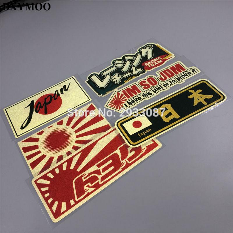 6 Styles Car Styling Japanese JAPAN Flag IM SO JDM RACING TEAM Motorcycle Helmet Car Sticker Decals
