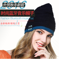 Calion Fashion Bluetooth Music Hat Women Girls Winter Knitted Caps With Wireless Sports Phones Talking Headphones Headsets
