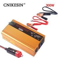 CNIKESIN 300 Вт инвертор 12 В постоянного тока до 220 В 230 В AC конвертер чистая синусоида солнечный инвертор для зарядки смартфонов