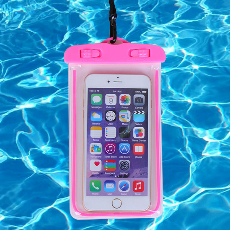 Universal Waterproof Phone Pouch Cellphone Dry Bag Case For IPhone Samsung Huawei Up To 6.0