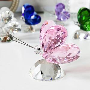 Image 5 - H&D 6pcs Crystal Butterfly Crafts Glass Animal Paperweight Natural Stones Figurines Ornaments Home Decor Souvenir Wedding Gifts