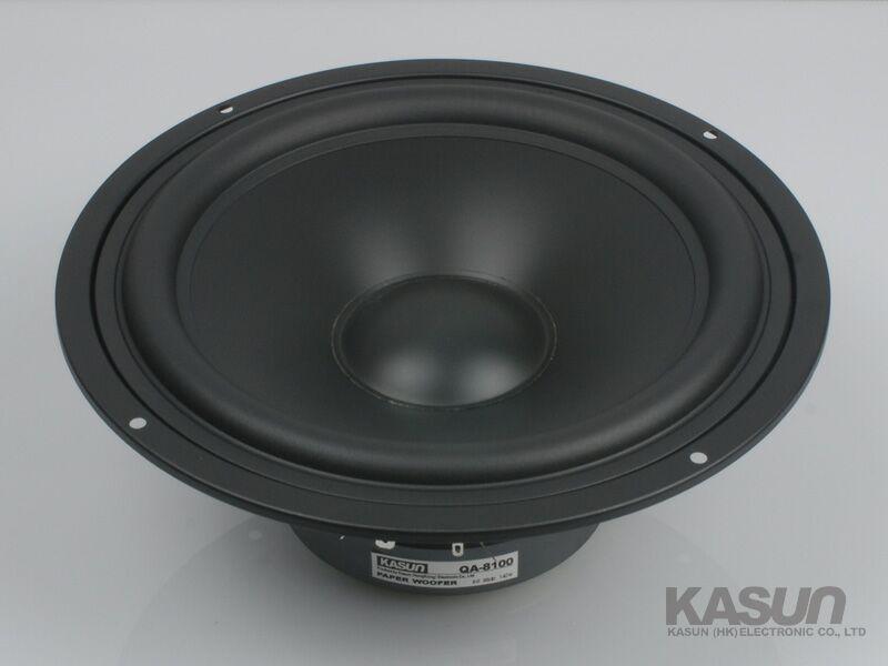 1pcs HI-FI series woofer loudspeaker QA-8100 8 inch mid-bass mid bass woofer speaker 140W 8 ohm for amplifier