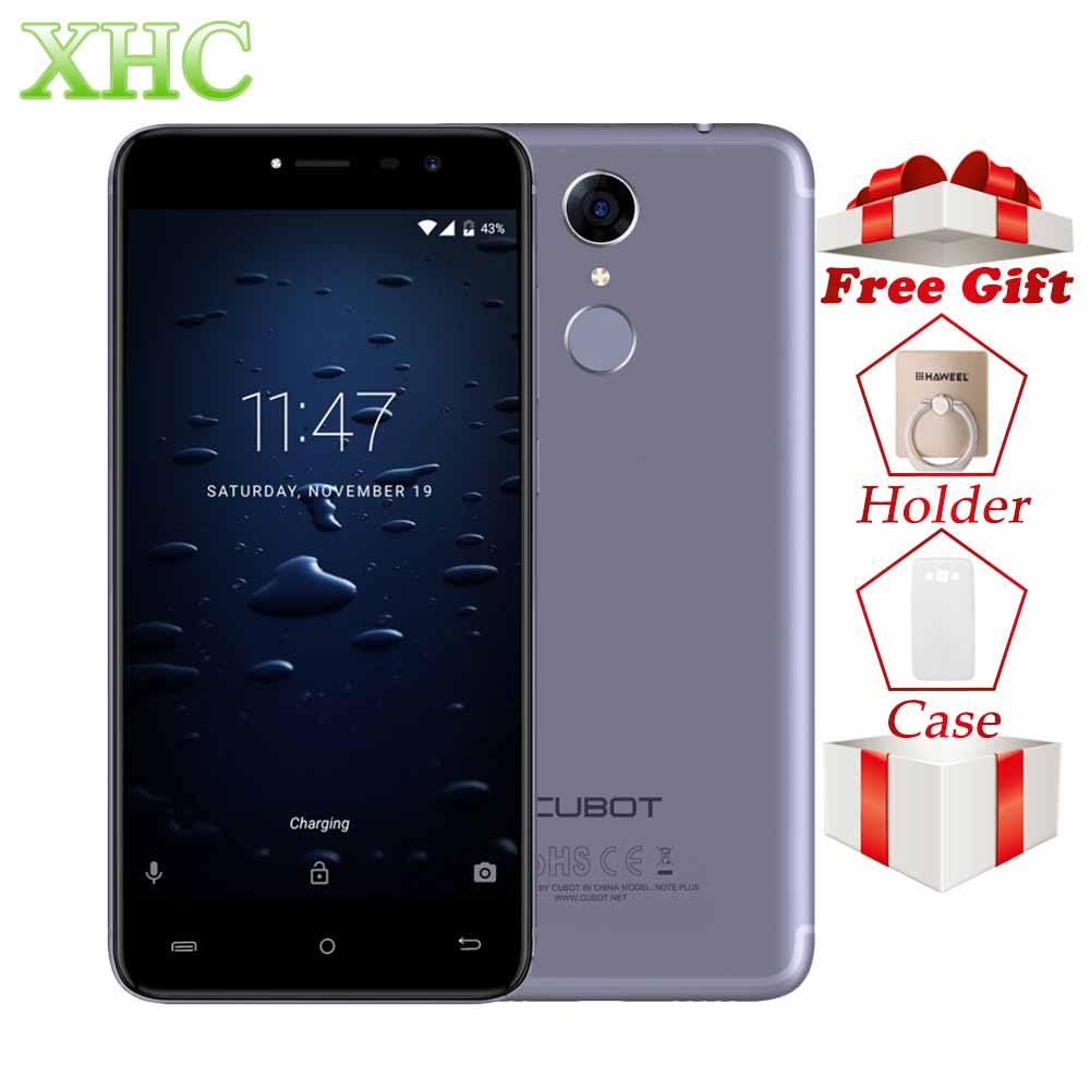 CUBOT Note Plus Smartphones 5.2 ''3 GB + 32 GB double identification d'empreintes digitales 13MP Android 7.0 MTK6737T Quad Core double SIM 4G LTE téléphones mobiles